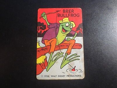 1956 Walt Disney Productions Cartooning Cards Drawing Aid Brer Bullfrog