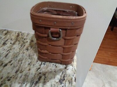 Longaberger Pencil Basket With Protector Dark Stain