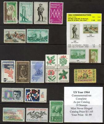 US 1964 Commemorative Year Set, Mint Never Hinged, buy now $1.99 See other Years