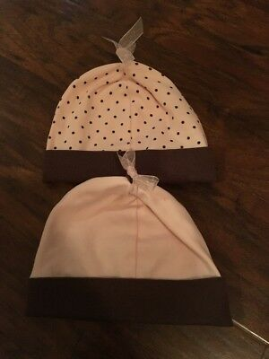 Lot Of 2 RESTORATION HARDWARE Baby & Child Knit Caps Hats - Size 6-12 Mos
