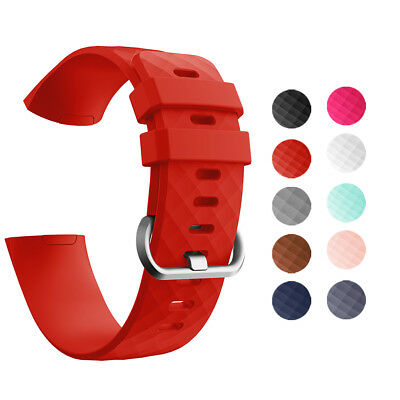 Silicone Sport Smart Watch Bracelet Tracker Wrist Band Strap For Fitbit Charge 3