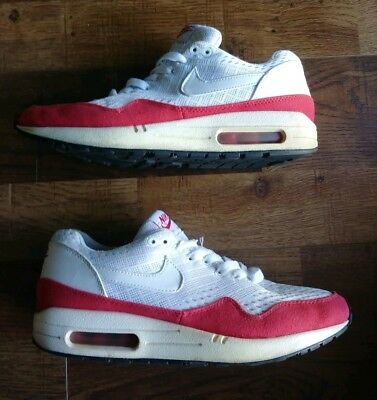 on sale da37e 49af8 2012 Nike Air Max 1 EM ENGINEERED MESH 90 WHITE UNIVERSITY RED 554718-161 SZ