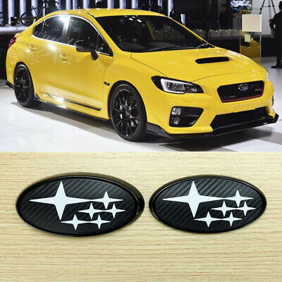 2014-2017 For STI WRX Front /& Rear Glossy Black X RED Insert Badge Emblem
