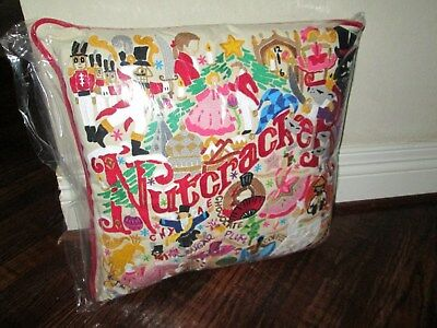 Catstudio Pillow Nutcracker  Embroidered 20 by 20 NWT