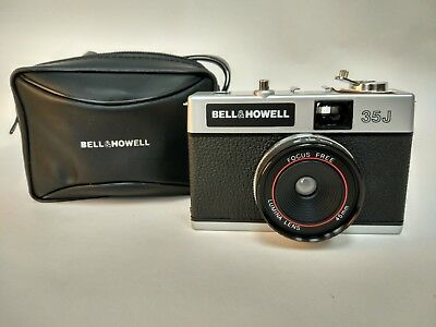 Vintage Bell and Howell Camera 35J - 45mm  Film Camera with Case & Lens Cover