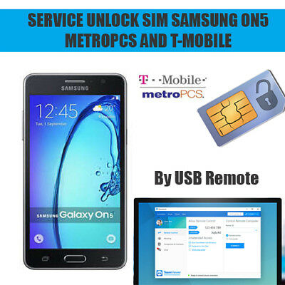 Unlock Sim Service Remote Samsung ON5 G550t G550T1 TMobile/MetroPcs + Frp Google