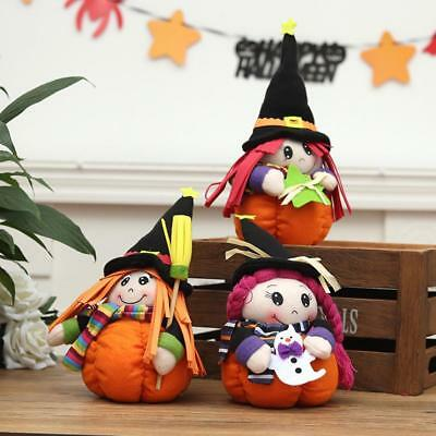 Halloween Decoration Pumpkin Cute Witch Girl Doll Creative Toy home Decor