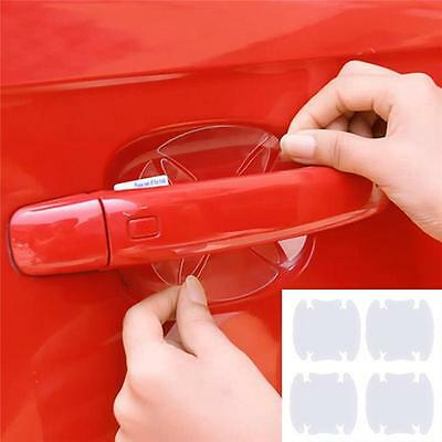 4Pcs/Set Car Door Handle Universal Scratches Protector Invisible Sticker Film N7