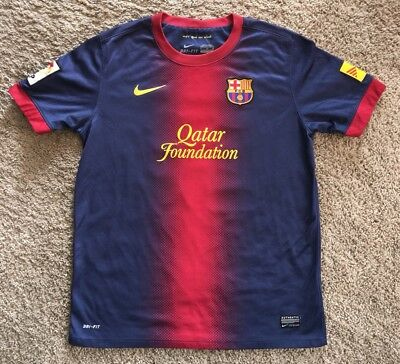 promo code 4b48c d2c2d NIKE 2012 2013 FCB FC Barcelona Spain #10 Messi Football Kit Jersey SZ  Youth XL