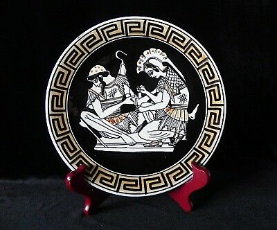 Hand Painted GREEK DECORATIVE PLATE