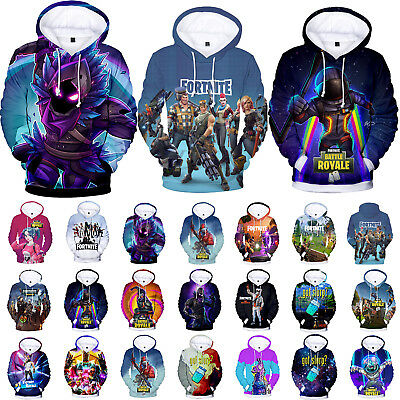 Fortnite Gamer Hoodie Sweatshirt Unisex Adults Pullover Jumper Jacket Sweater