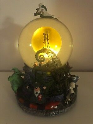 THE NIGHTMARE BEFORE CHRISTMAS MUSICAL SNOWGLOBE, Disney 1993, In Box, Excellent