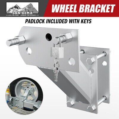 Spare Wheel Carrier Bracket Tyre Holder Galvanised Trailer Part Caravan Boat
