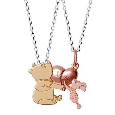 THE KISS Disney Collection Winnie the Pooh and Piglet Necklace Pair Set JP :696