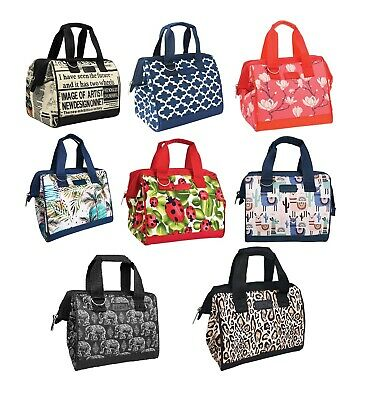 Sachi Insulated Lunch Box Carry Tote Picnic Storage Portable Bag Midnight Floral