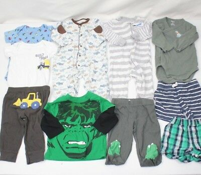 Carter's Baby Boy Clothes Size 6m HUGE LOT 6 months 10 PIECES HULK Dogs TRACTOR