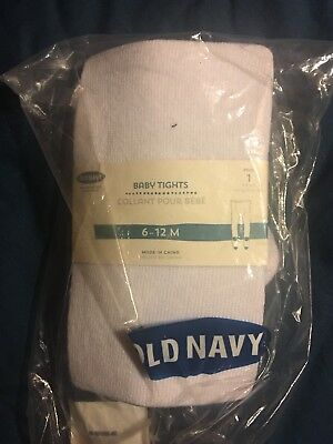 Old Navy Baby Tights White 6-12 Months NWT