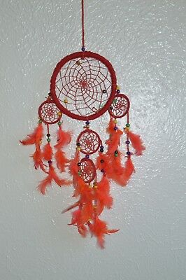Purple Dream Catcher Wall Hanging With feathers Decoration Decor Bead Ornament