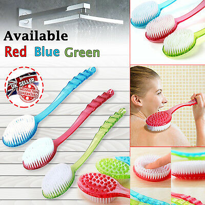 Long Handle Bath Brush Body Back Scrubber Shower Bristle Spa Bathroom 3 Color UK