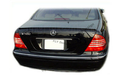 Mercedes Benz S CLASS Autospoiler W 220 320 Cdi 350 AMG Tailgate Lip Painted