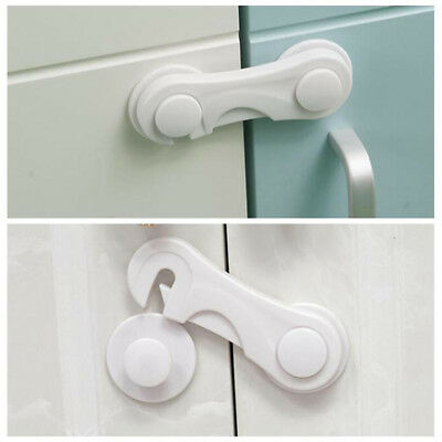 5/10x Kids Child Baby Safety Door Lock Proof Cupboard Fridge Cabinet Security df