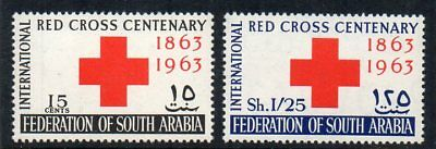 Federation of South Arabia - 1963 Red Cross Sg 1-2 Unmounted Mint
