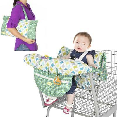 Baby Shopping Cart Cushion Kids Trolley Seat Chair Cover Travel Bag Protector