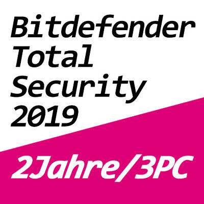 Bitdefender Total Security 2019 Vollversion Deutsch Multi-Device 3 PC / 2 Jahre