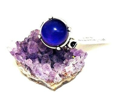 Mood Ring in Bohemian/Gothic Style with Round Stone Set in Antique Silver