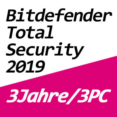 Bitdefender Total Security 2019 Vollversion Deutsch Multi-Device 3 PC / 3 Jahre