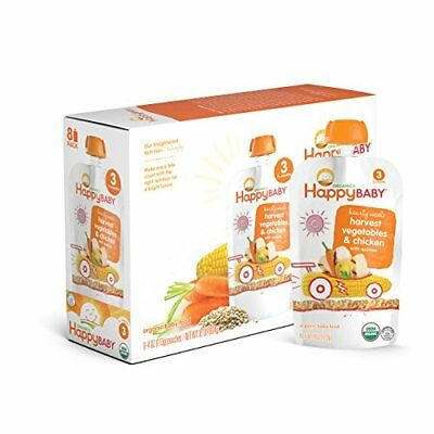 Happy Baby Organic Stage 3 Baby Food Hearty Meals Harvest Vegetables & Chicken w