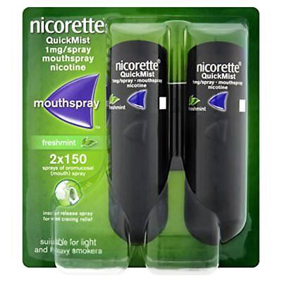 Nicorette QuickMist 1mg/spray mouthspray nicotine 2X150  (Genuine)