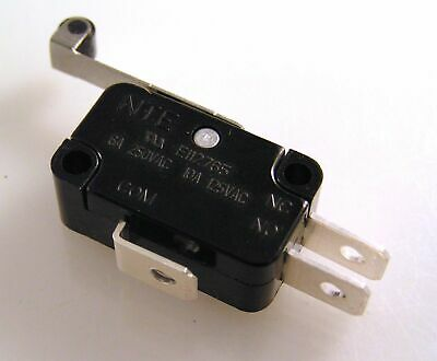 NTE E112765 Changeover Microswitch with Lever/Roller 6A 250V V3R OM0617 1 piece