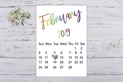 Pregnancy Announcement Calendar Due Date Personalised Rainbow Unisex A4 Size