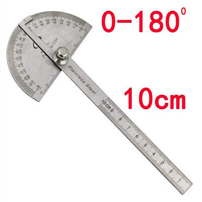 Stainless Steel Protractor Ruler Angle Finder 180Degree Rotary Measuring Tool