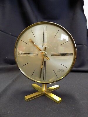 Retro Vintage 1960's Smiths Sectronic Desk Clock on Stand (Brass)