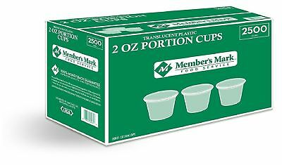 Daily Chef 2 oz Portion Cups 2500 ct Translucent Plastic Food Service