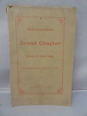 Antique Masonic Annual Convention 1888 Original Grand Chapter Albany New York