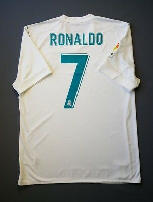 c0a8013f5 4.9 5 Real Madrid  7 Ronaldo 2017 2018 Football Soccer Home Jersey Size L