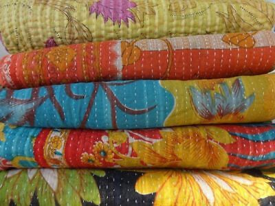 Vintage Kantha Quilt Wholesale Lot Ralli Gudri Reversible Blanket Throw