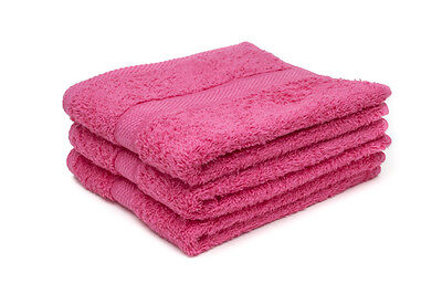 60 X Hot Pink Luxury 100% Egyptian Cotton Hairdressing Towels / Salon / 50x85cm