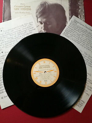 MEIC STEVENS Caneuon Cynnar Early Recordings only 100 private self-funded press