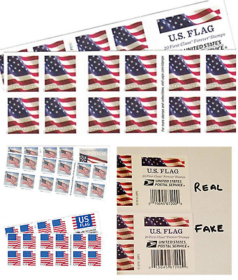 US Flag 40 Postal Stamps For Collectors USPS Forever Release Collecting Xmas