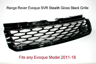 Range Rover Evoque Gloss Black Grille SVR Style - Fits all Evoque models 2011-18