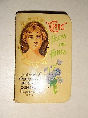 1907 Chic Helps & Hints Chichester Chemical Co. Pills Patent Medicine Booklet