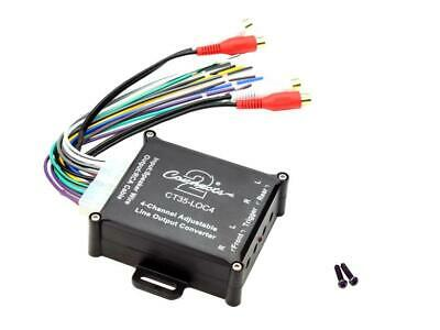 Car 4 Channel Speaker Wire To 4 Low Level RCA Output Line Converter clear sound!