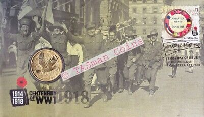 PNC Australia 2018 Centenary of World War 1 End of WW1 Perth Mint $1 Coin