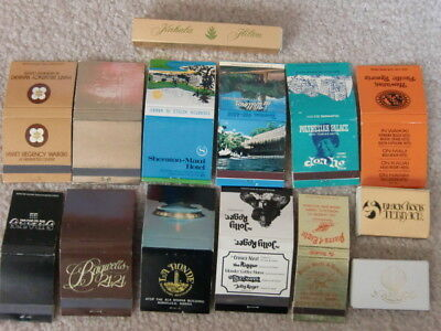 Vintage Hawaii Matchbooks Lot of 14 Mostly Full and Unstruck 70's