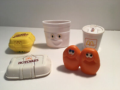 Vintage 1980s McDonalds Changeables Transformable Happy Meal Toys Nuggets