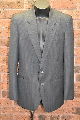 BENINI Vintage 90s Grey Wool Blend Suit Jacket 42R - EUC